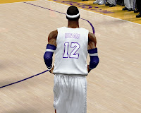 NBA 2K13 Lakers Home Christmas Jersey Patch Download