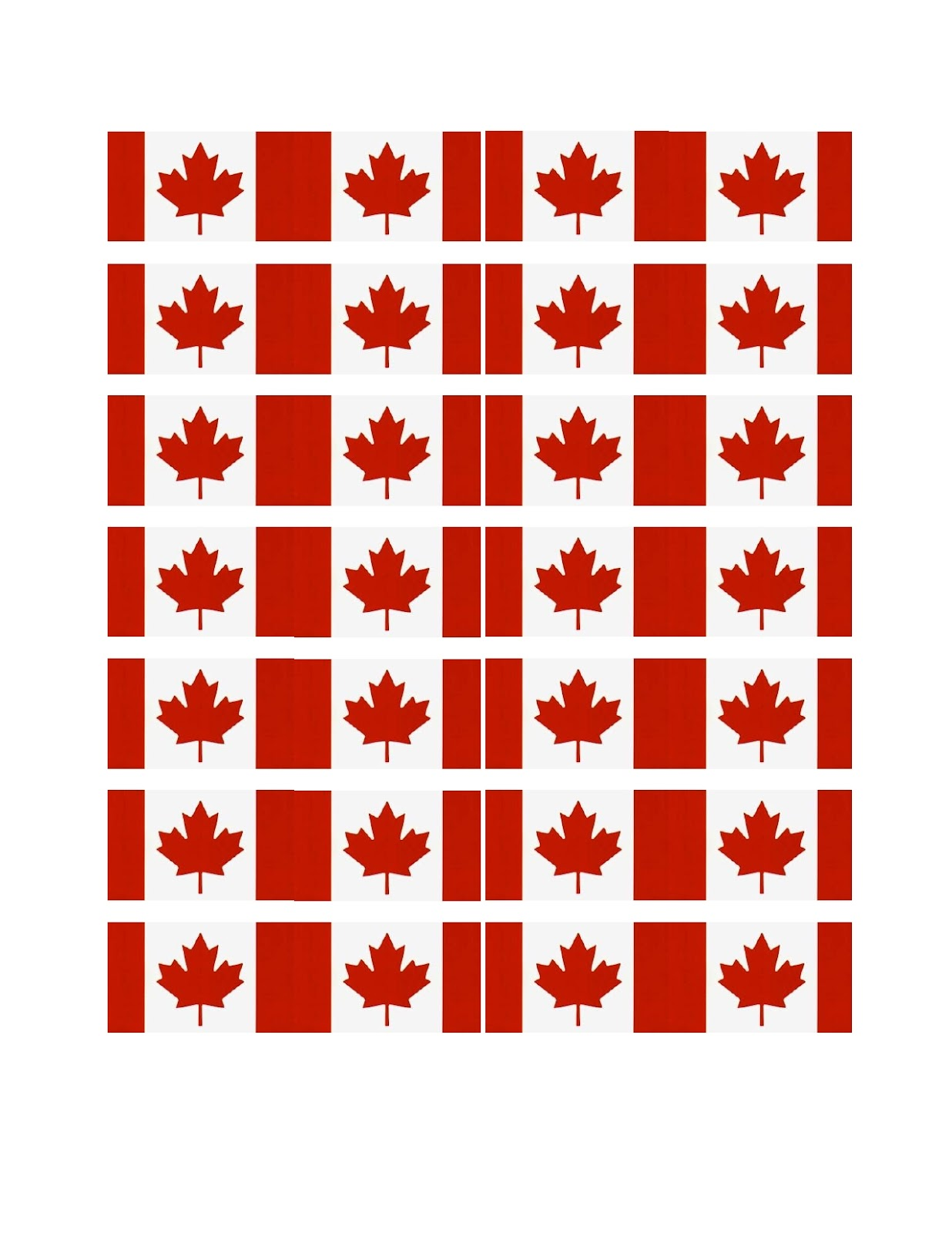 Geeky image pertaining to printable canadian flag