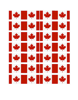 Printable Canadian Flag template Cupcake Toppers