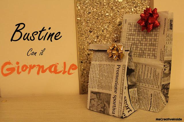 tutorial diy packaging Bustine carta giornale ME creativeinside