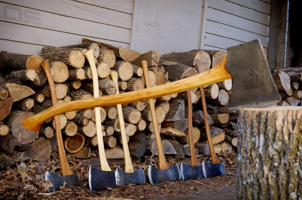 rehanging an axe, axe collection