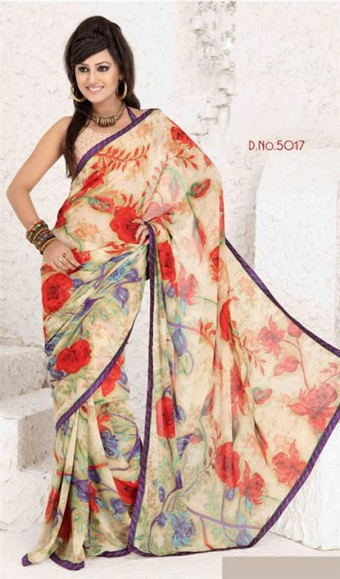 Fancy Saree Patterns 2012