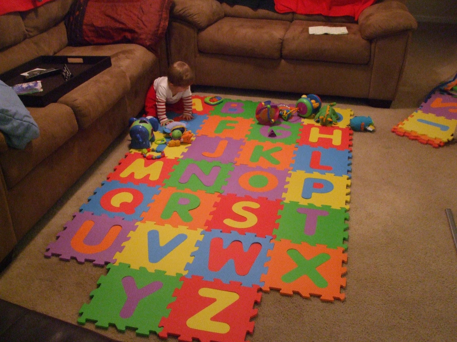 Next generation stay at home mom review imaginarium alphabet we got it right away and laid it out on the floor you can set the pieces any way you would like we set it up just regular to try it out dailygadgetfo Images