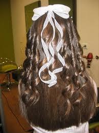 Peinados de primera comunion con bucles