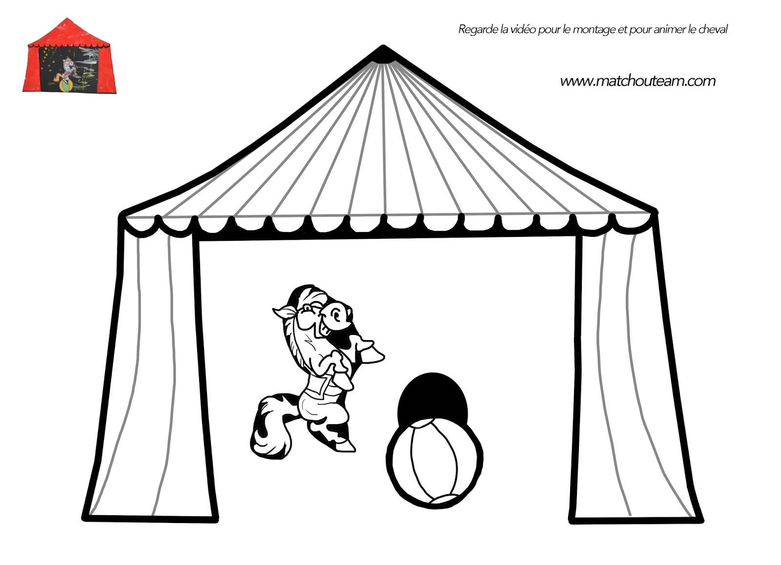 Coloriage Chapiteau Cirque - Coloriage Cirque à imprimer Coloriages Divers