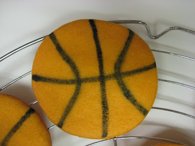 Basketball Cookies - Close-Up of Cookie
