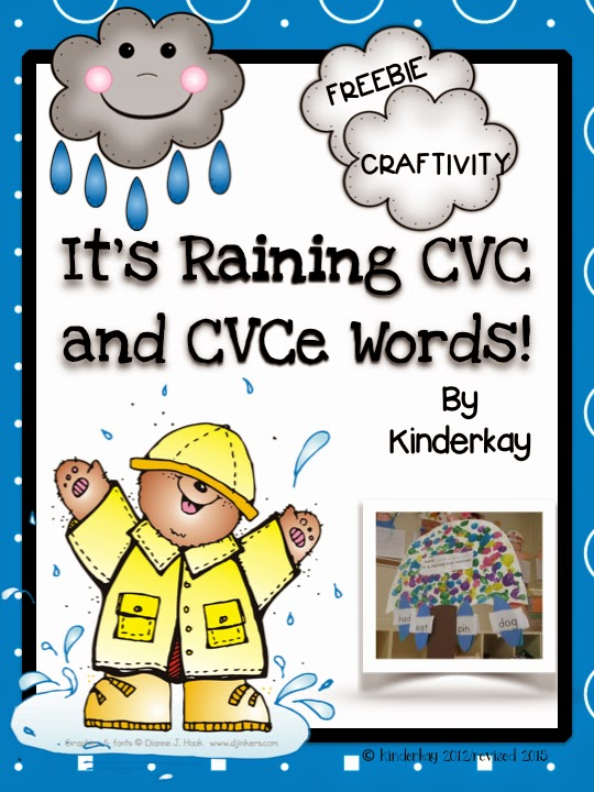 https://www.teacherspayteachers.com/Product/It-is-Raining-CVC-and-CVCe-Words-233090
