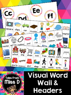 https://www.teacherspayteachers.com/Product/Visual-Word-Wall-2202315