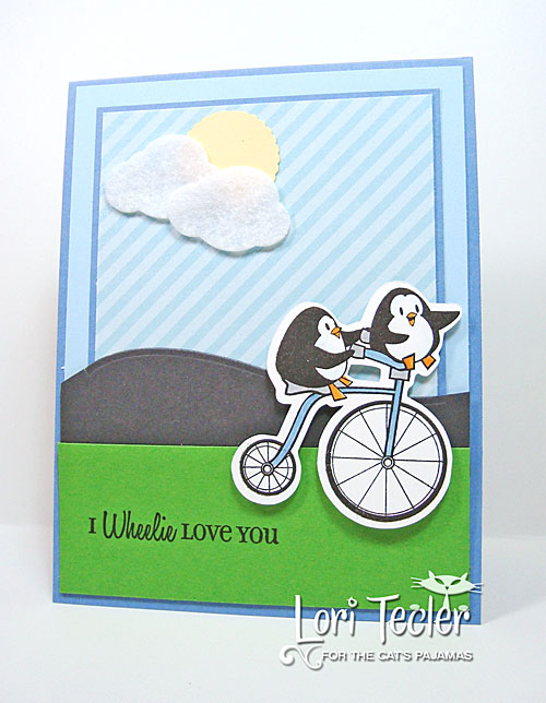 I Wheelie Love You card-designed by Lori Tecler/Inking Aloud-stamps and dies from The Cat's Pajamas