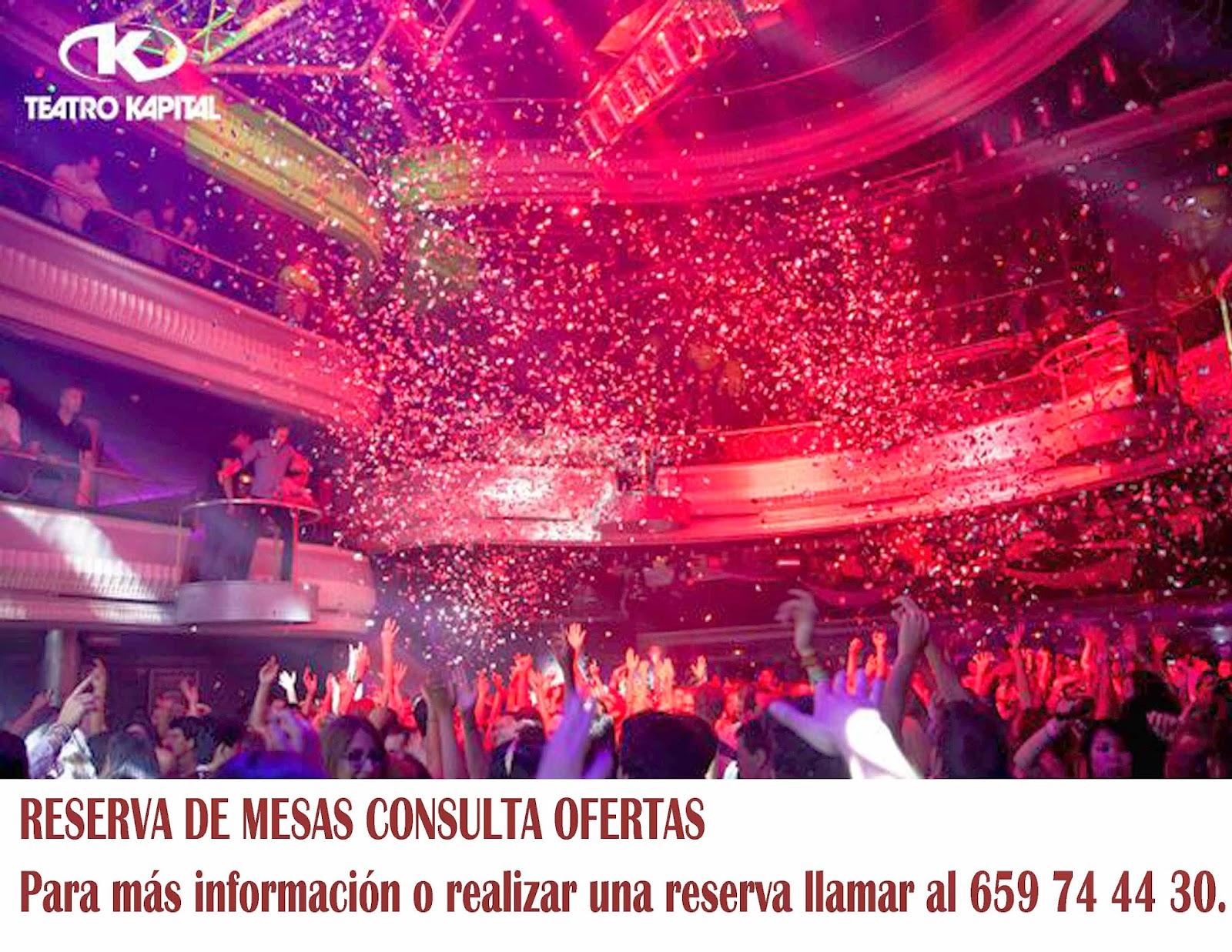 Lista discotecas madrid lista discotecas madrid for Sala kapital madrid