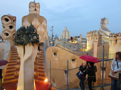Chimneys of La Pedrera in Barcelona