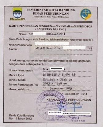 Contoh Surat Izin Usaha Angkutan Barang