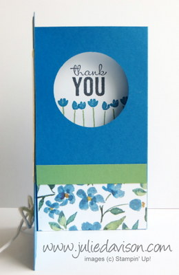 VIDEO Tutorial for Stampin' Up! Painted Petals Pop-Up Diorama Card  #stampinup #occasions www.juliedavison.com