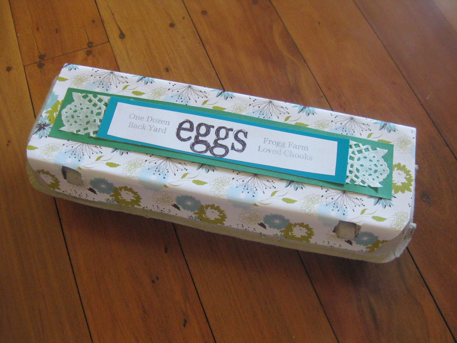 The practical frog blog egg carton covering if you are careful you can pull the sticker with the original label off and use if for a template to cut your new covering if not the width and length is pronofoot35fo Gallery
