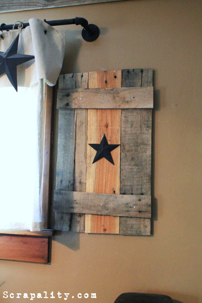 Pallet wood faux shutters for How to make shutters from pallets