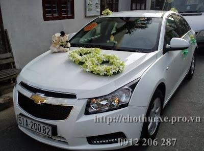 Cho thuê xe cưới Chevolet Cruze