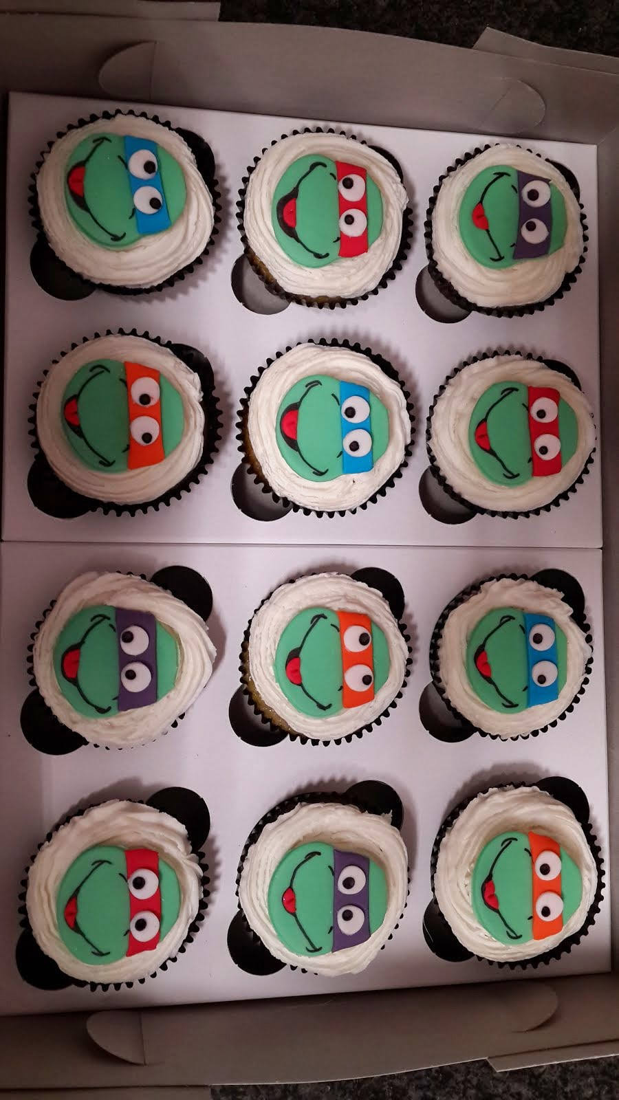 Turtle 2D Cupcakes