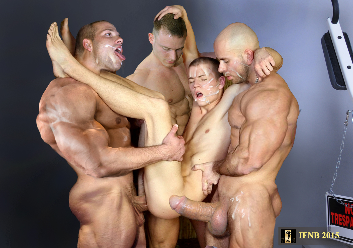 That's some naked muscular men