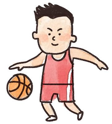 バスケットボール選手のイラスト(スポーツ)