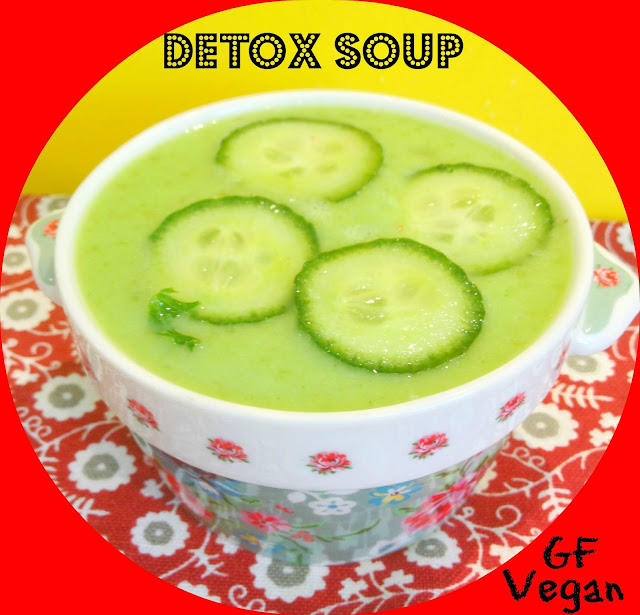 green chilled cucumber soup in a bowl