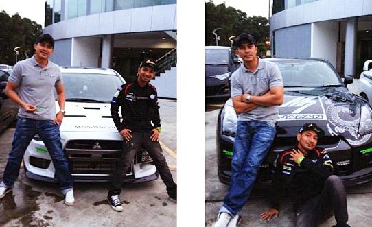 gambar berikut merupakan gambar kereta sport milik kedua dua artis ini