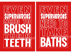 Superhero prints