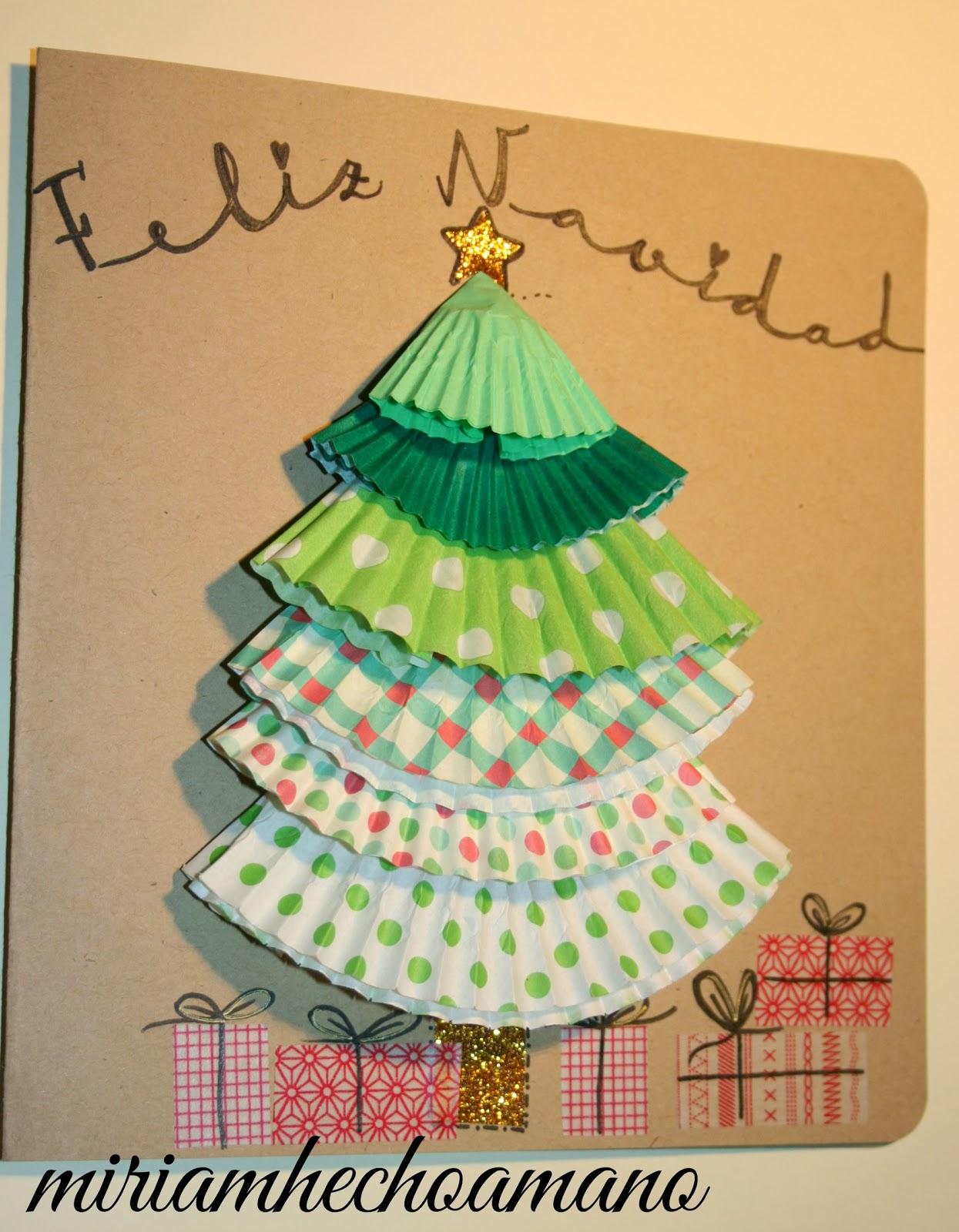 Miriam hecho a mano salvemos un christmas - Tarjeta de navidad manualidades ...