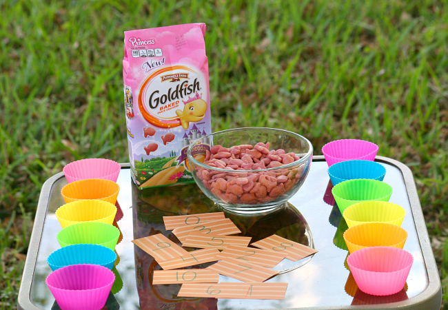 Goldfish Snack Time Math Game for Kids by Kim at The Educators' Spin On It