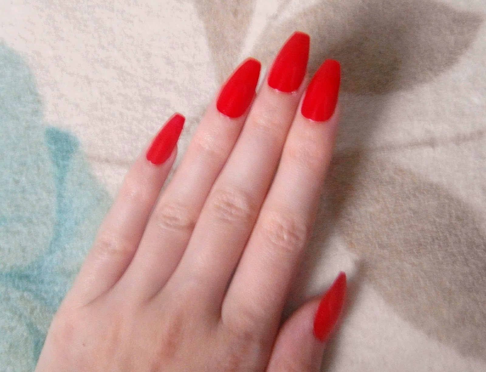 Matte Coffin Shaped Nails Basically Coffin Shaped Nails