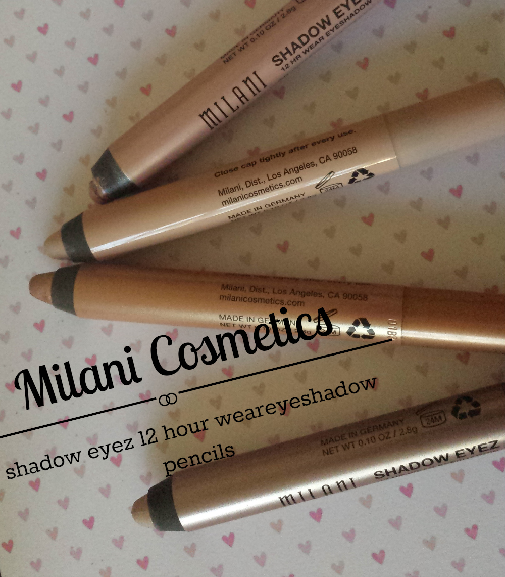 Milani Shadow Eyez Jumbo Pencils review and swatches champagne toast, sand dunes, golden bronze, almond cream