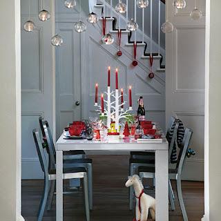 decoración mesa de navidad