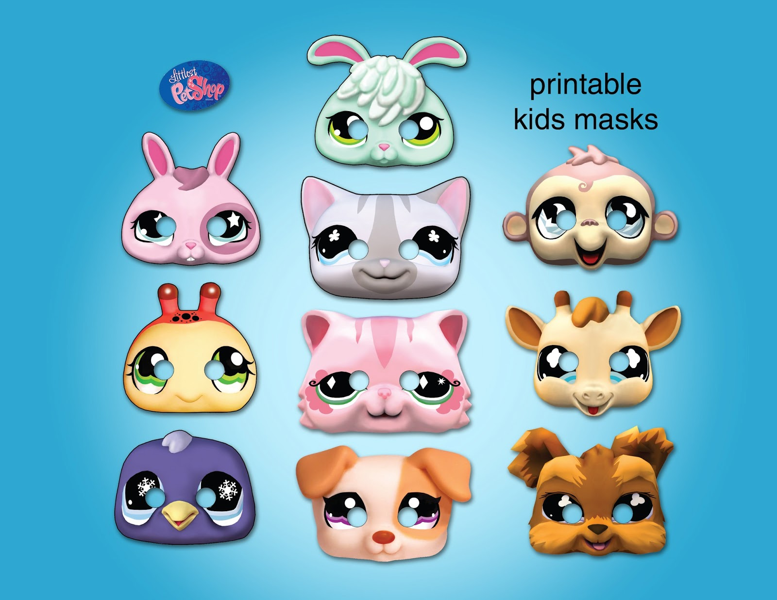 I Also Made Some Printable Littlest Pet Shop Party Masks Available Here