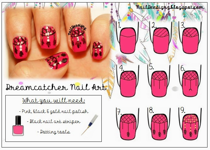 http://www.naildeesignz.blogspot.co.uk/2014/05/dreamcatcher-nail-art.html