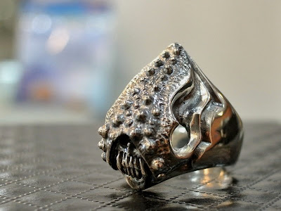 Strange Freak Designs Eyeless Skull Ring