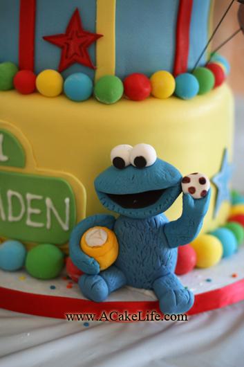 Braden S Sesame Street 1st Birthday Cake A Cake Life