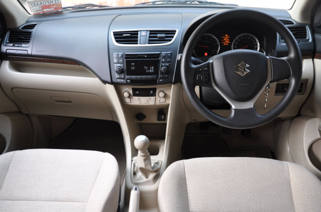 2012 maruti suzuki swift dzire review specification for Swift vxi o interior