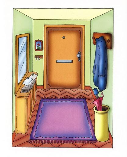 Imagenes habitaciones casa para imprimir - Dibujos habitaciones infantiles ...