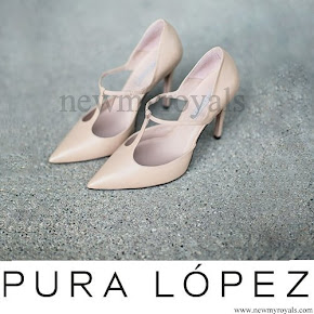 Crown Princess Mary Style Pura Lopez Nude Gianella T-Bar Heel