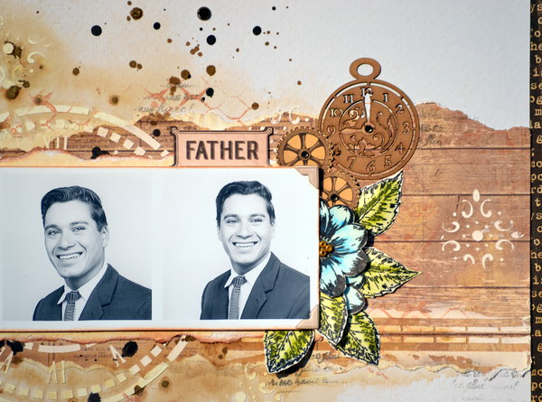 Father Layout by Denise van Deventer using the Heritage Collection