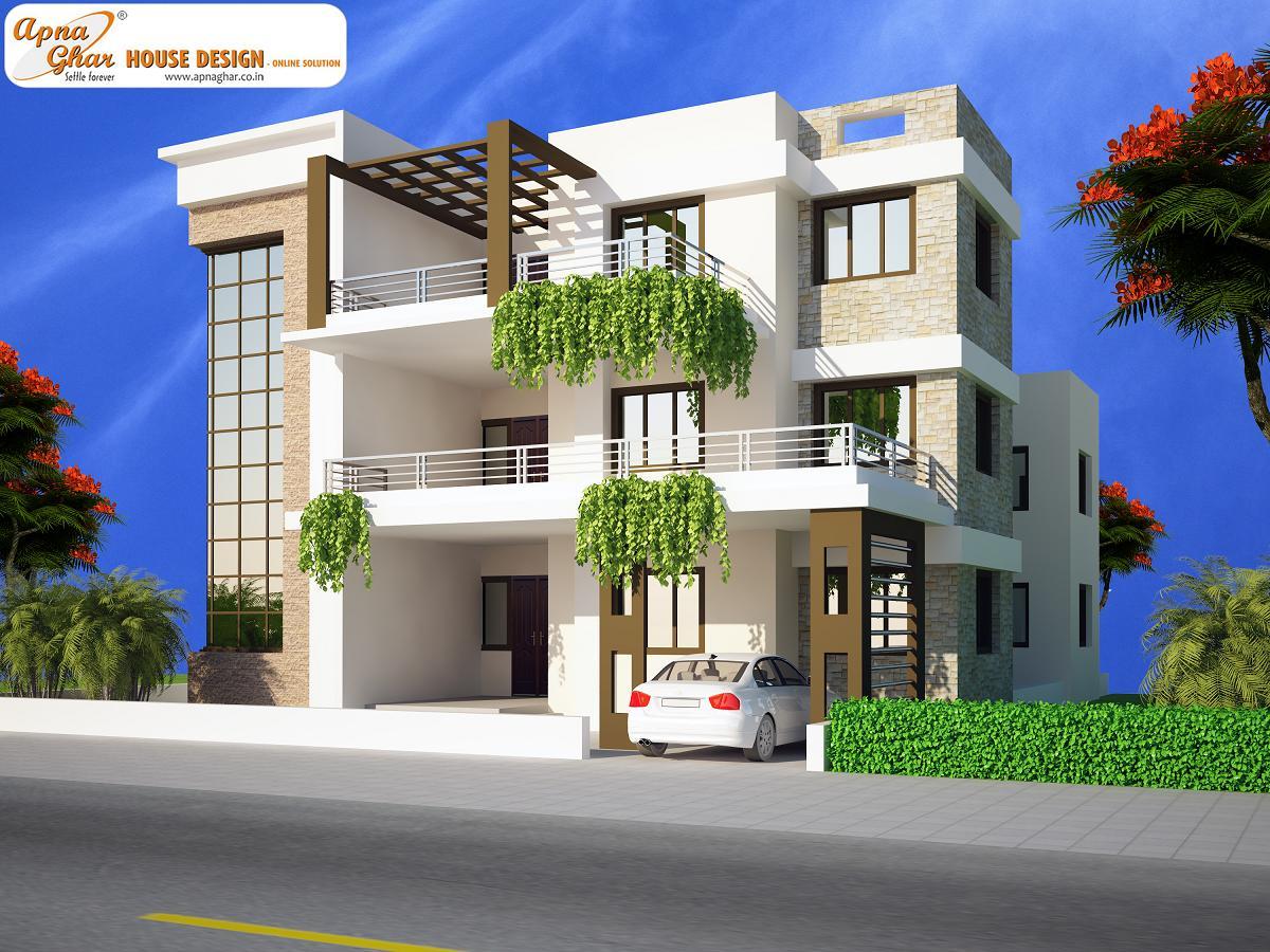 Triplex House Design, Triplex House Plan