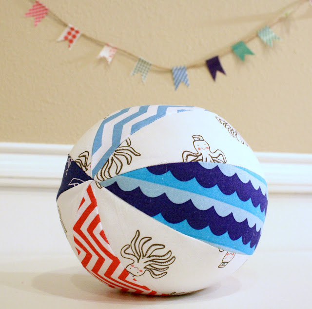 Nautical sailor octopus ball