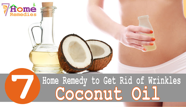 Coconut oil to get rid of wrinkles