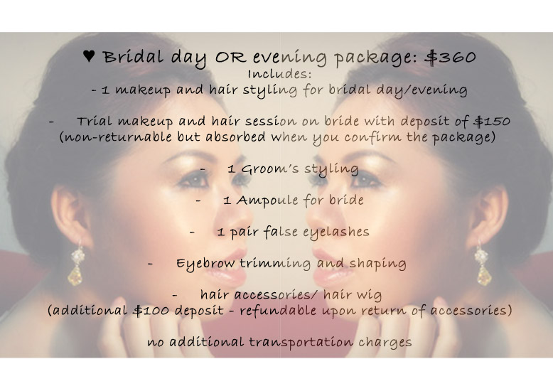 Prices for wedding hair