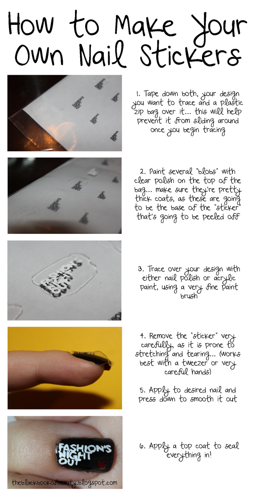 Black Book Of Beauty How To Make Your Own Nail Stickers
