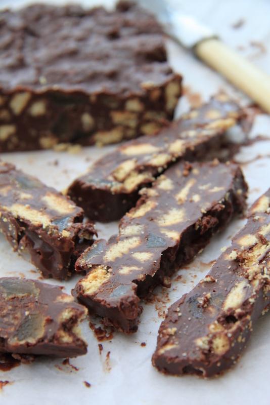 Batoniki czekoladowe z imbirem