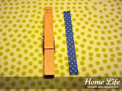Clothespin before adding scrapbook paper