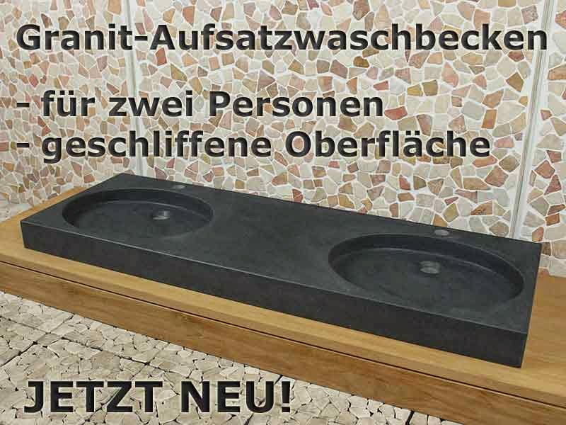 Badezimmermöbel Teakholz ~ Badezimmermöbel aus Teakholz und Waschbecken aus Naturstein
