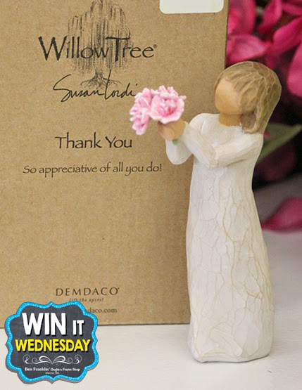 "Win this Willow Tree by Susan Lordi ""Thank You"" Figurine signed by the artist"