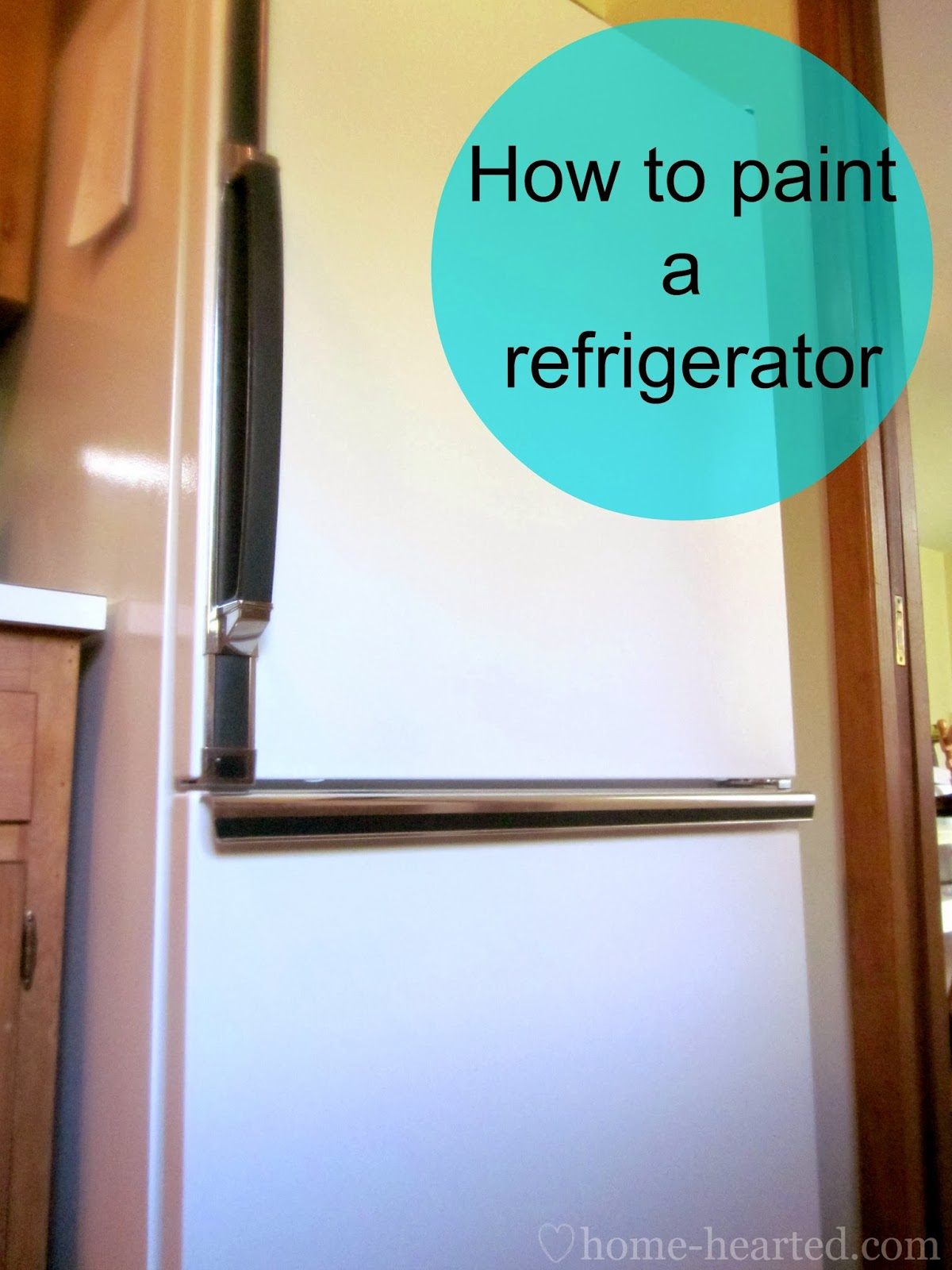 refrigerator paint. how to paint a refrigerator
