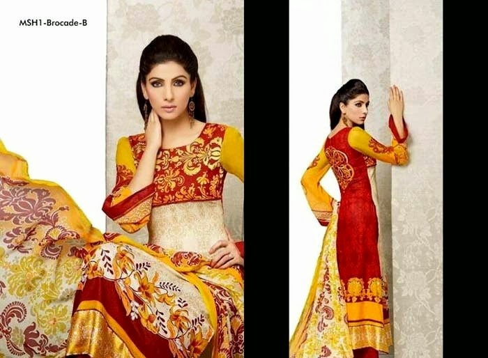 Mashaal Summer Lawn Suits 2014